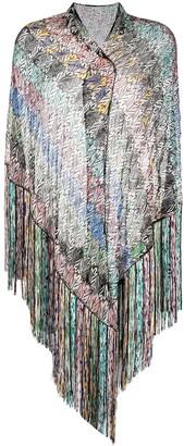 Missoni Knitted Fringed Edge Scarf