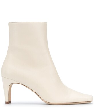 STAUD Side-Zipped Ankle Boots