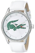 Lacoste Women's 2000893 Victoria Stainless Steel Watch With White Leather Band