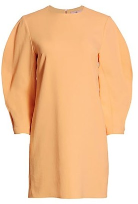 Tibi Chalky Drape Origami-Sleeve Dress