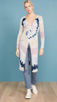 Autumn Cashmere Cashmere Tie Dye Maxi Cardigan
