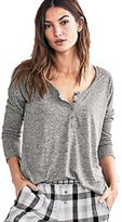 Victoria's Lavender Victorias Secret The Dreamer Long Sleeve Henley Pajama Top