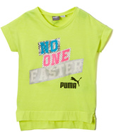 Puma Yellow 'No One Faster' Tee - Girls