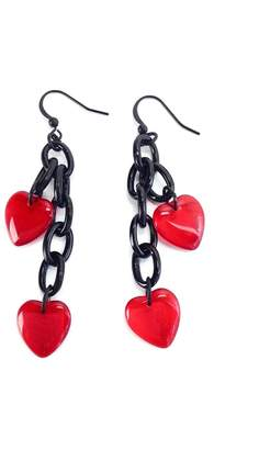 Glass Heart Ghome2 Earrings