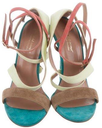 Jean Michel Cazabat for Sophie Theallet Suede Colorblock Sandals