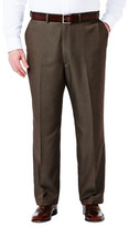 Haggar Big& Tall Cool 18 Heather Solid Pants - Classic Fit, Flat Front, Hidden Expandable Waistband