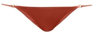 JADE SWIM Aria Low-rise Bikini Briefs - Womens - Dark Red