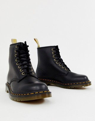 Dr. Martens faux leather 1460 8-eye boots in black