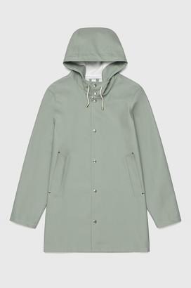 Stutterheim Stockholm Khaki Green Unisex Raincoat - XL .