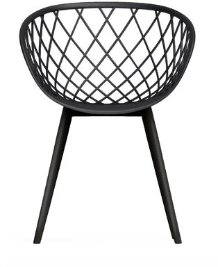 Bungalow Rose Brower Metal Dining Chair Color: Black