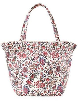 Loeffler Randall Claire Floral Ruffle Tote