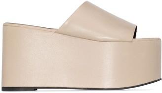 Simon Miller Blackout 105mm leather platform sandals