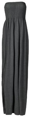 Girlswalk Girls Walk Women's Plus Size Plain Boob Tube Bandeau Sheering Maxi Dress - Blue - 16 UK/18 UK/XL