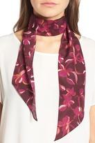 Halogen Botanical Print Skinny Silk Scarf