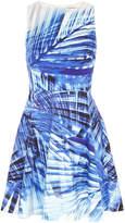 Karen Millen Blue Palm Print Dress - Blue/multi