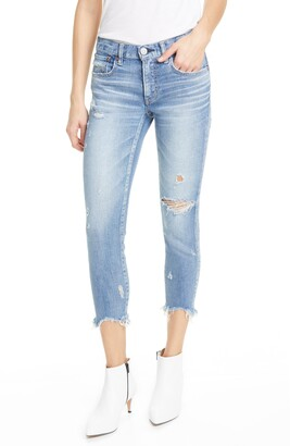 Moussy Glendale Distressed Crop Skinny Jeans