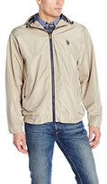 U.S. Polo Assn. Men's Fixed Hood Solid Windbreaker