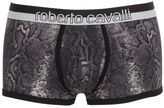 Roberto Cavalli Python Print Cotton Jersey Boxer Briefs