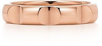 Tiffany & Co. Paloma's Groove narrow ring in 18k rose gold, 4 mm wide - Size 5 1/2