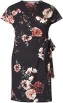 Dorothy Perkins Petite Multi Coloured Poppy Print Wrap Dress