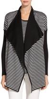 St. John Reversible Striped Knit Cardigan