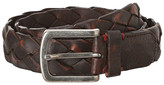 Torino Leather Co. Washed Leather Braid Belt