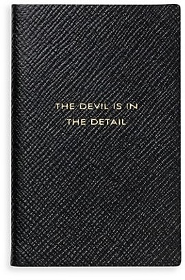Smythson Pastegrain The Devil Is In The Detail Leather Notebook