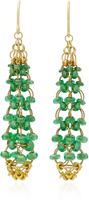 Mallary Marks Eiffel Tower 18K Gold Tsavorite Earrings