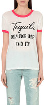 Wildfox Couture Tequila Hour cotton-jersey t-shirt