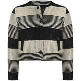Karl Lagerfeld LagerfeldGirls Black Striped Sequin Jacket