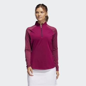 adidas Solid UV Long Sleeve Polo Shirt