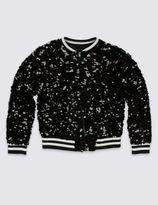 Marks and Spencer Sequin Bomber Jacket (5-14 Years)