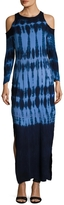Young Fabulous & Broke Women's Mischa Tie Dye Printed Maxi Dress