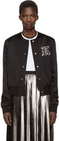 Christopher Kane Black Cropped Bomber Jacket
