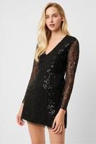 French Connection Inarhi Embellished V-Neck Sequin Dress