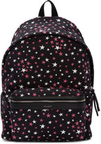 Saint Laurent Black Stars City Backpack