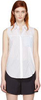 3.1 Phillip Lim White Patchwork Sleeveless Shirt