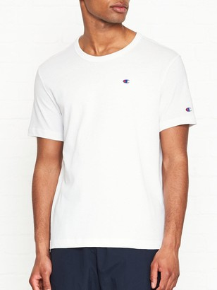 Champion Reverse Weave Embroidered Back Logo T-Shirt - White