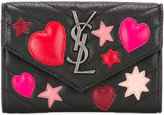 Saint Laurent small College envelope wallet - women - Lamb Skin - One Size