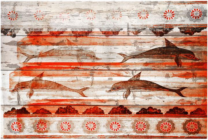 Parvez Taj Greek Dolphins (Reclaimed Wood)