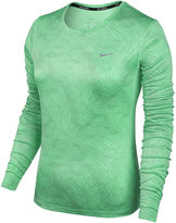 Nike Long Sleeve Crew Neck T-Shirt-Womens