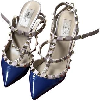 Valentino Rockstud Blue Leather Heels