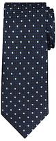Daniel Hechter Square Dot Woven Silk Tie, Navy/blue