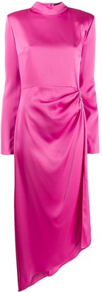 David Koma draped satin gown