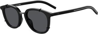 Christian Dior Men's Black Tie Round Acetate Sunglasses