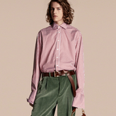 Burberry Striped Double-cuff Cotton Shirt