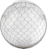 Rejuvenation 14in. Clear Globe Shade with Wire Mesh