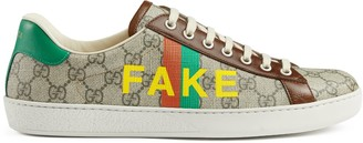 Gucci Men's 'Fake/Not' print Ace sneaker