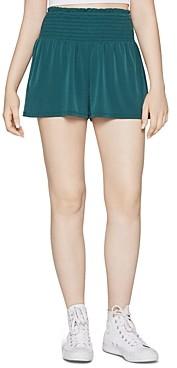 BCBGeneration Smocked Waist Shorts