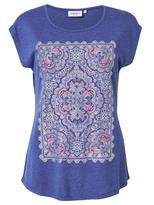 Jeanswest Serena Placement Print Tee-ultra Marine marle-XS